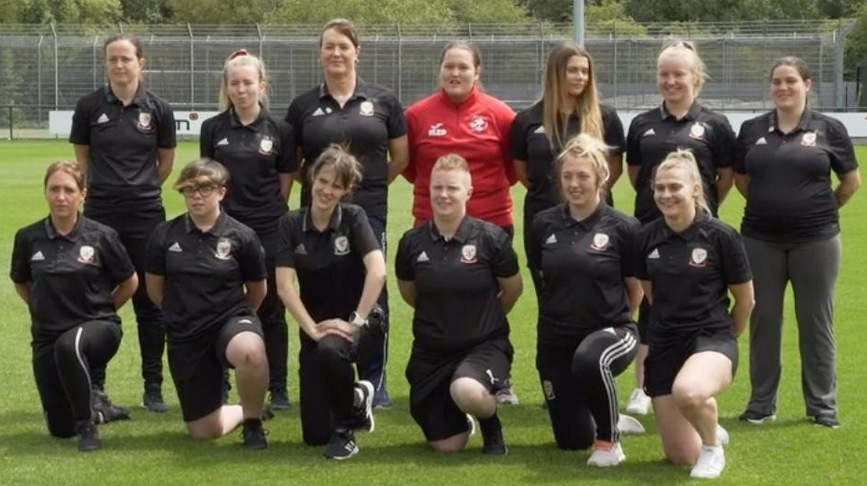 Lauren on her FAW Advanced Referee's Qualification Course Assessment day and feature of the BBC Sport/FAW Clip
